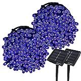 Yasolote 2 PACK 22M Luci Giardino Energia Solare 200 LED Luci da Esterno Luci Stringa Illuminazione per Addobbi Natalizi Catene Luminosa Decorazione Natalizie Albero di Natale Giardino Patio (Blu)