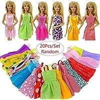 rungao 20pcs hecho a mano ropa de fiesta vestido traje para Barbie Doll Chirstmas regalo