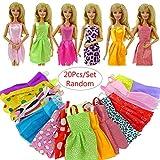 Rungao Lot de 20faite à la main fête Vêtements Robe Tenue pour poupée Barbie Cadeau de Noël