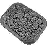 PrimeMatik - Poggiapiedi con Piattaforma Regolabile in plastica Nera 448 x 335 mm