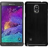 Funda Rígida para Samsung Galaxy Note 4 - metálico negro - Cover PhoneNatic Cubierta + protector de pantalla