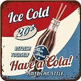 5 Untersetzer - 9 x 9 cm - USA Have a Cola