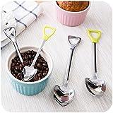 Forviupet Suppe Kreatives Eisbesteck für Kinder Junge Mädchen für Kinder Essen Kaffeelöffel Edelstahl Schaufel Form Geschirr