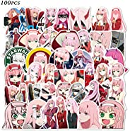 Darling in The FRANXX 02 Stickers 100pcs Vinyl Waterproof Zero Two Stickers Classic Japanese Anime Stickers fo