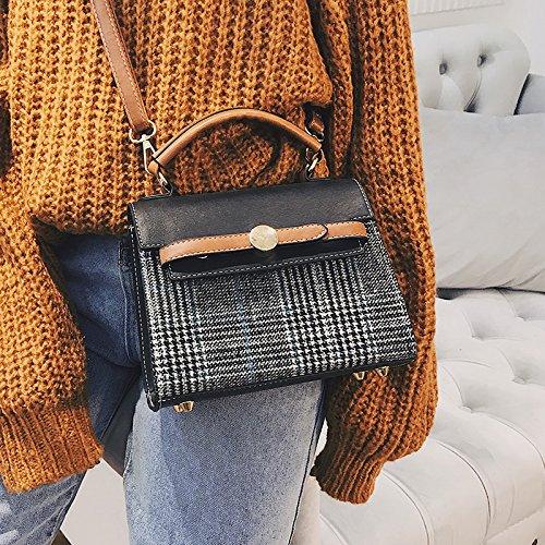 Umhängetaschen neue Single Schultertasche Handtasche Bag Plaid Retro Diagonal All-Match Handtasche Tasche a