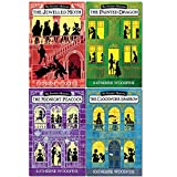 sinclair's mysteries series katherine woodfine 4 books collection set - (the jewelled moth,the painted dragon,the clockwork sparrow,the midnight peacock)