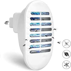 KACOOL Indoor Electronic Plug-in Mosquitos Flying Insect Pest Zapper Killer Trapper with UV LED Light Lamp Trap (White, KKM111)