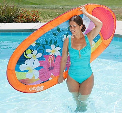 SwimWays Primavera Float Stampa Grafica, Gonfiabile Piscina Sdraio Lusso (Gonfiabile Lounger)