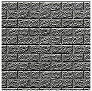 Happytoys 70x77cm PE Foam 3D Wall Stickers Safty Home Decor Wallpaper Sticker,grey