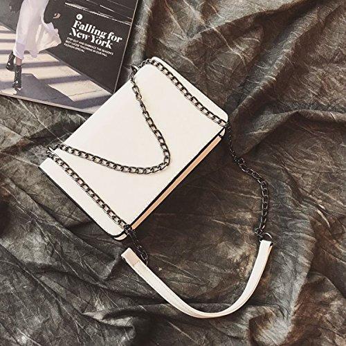 kleine paket blumen Kette paket casual kleine quadratische tasche Schulter messenger mode handtaschen Weiß