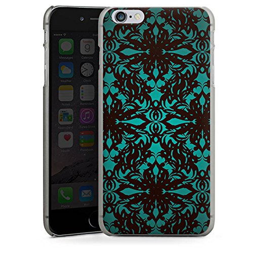 Apple iPhone X Silikon Hülle Case Schutzhülle Muster Gothic blumenmuster Hard Case anthrazit-klar