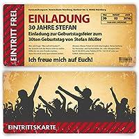 Perfekt Einladungskarten Zum Geburtstag (30 Stück) Als Eintrittskarte Im  Vintage Look Ticket Karte Einladung
