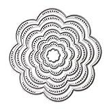 Broadroot. Plantillas de corte de metal con círculos de flores, 7 unidades, para manualidades, álbumes de recortes