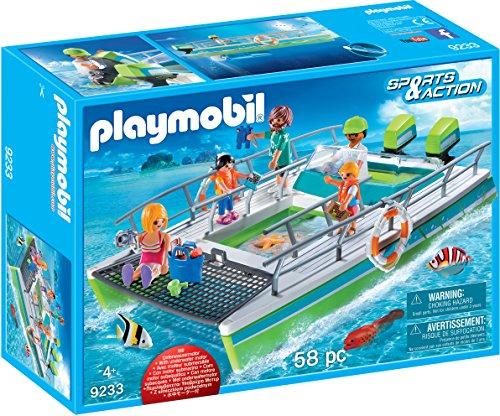 Playmobil 9233 - Bateau à fond de verre avec moteur sous-marin