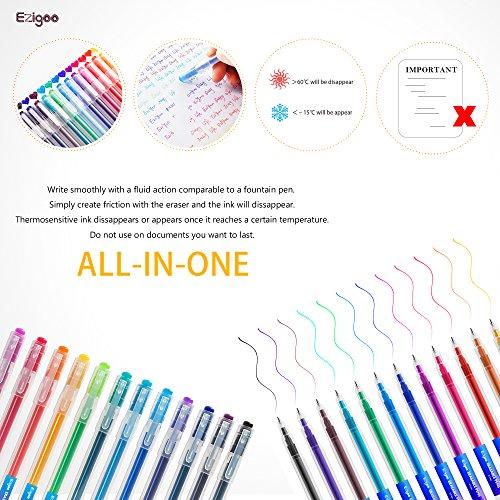 confronta il prezzo Penne Cancellabili Punta 0.7 mm – Penna Ricaricabile Colori Assortiti Confezione da 12 - Ezigoo miglior prezzo