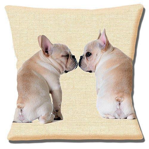 Fawn Französische Bulldogge Welpen Foto beige Textur Print