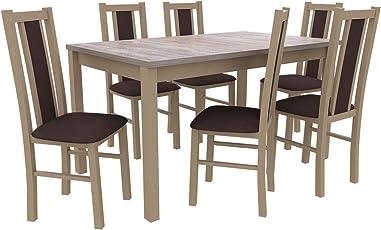 Mirjan24 Essgruppe Mit 6 Stühlen DM17, Esstisch + Stuhlset, Tischgruppe,  Esstischgruppe, Sitzgruppe