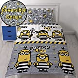 OFFICIAL Despicable Me Minions Single Duvet/Quilt Cover Bed Set Kids Bedding Set Childrens Boys Girls (Single, Minions Jailbird)