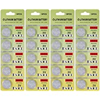 Fortune CR2032 3V Lithium Battery,Electronic Coin Cell Button Battery for Toys,Calculators,Watches,Light Candles (Pack of 20)