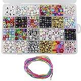 CODIRATO 24 Clases Abalorios Perlas de Resina Acrílica, Cuentas Redondas Abalorios Colores Piedras para Pulseras para Niños Niña Regalo Pulsera DIY