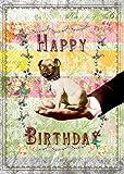 Alles Gute zum Geburtstag Mops Grußkarte von Mimi