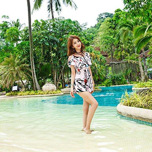 KPHY - Damen Bademode, neue Art von Split Badeanzug, Badeanzug, Rock Badeanzug Pink