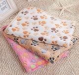 ZHJZ Lettiera per Cani Cuscino per cuscino pad coprivaso in pile per coralli morbidi caldi in corallo morbido (marrone, 60 * 40cm)