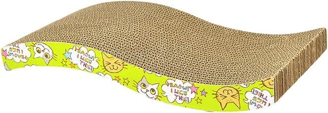 Yuncai Haustier Katze Welle Wellpapier Kratzbrett Lustig Klaue Pflege Spielzeug