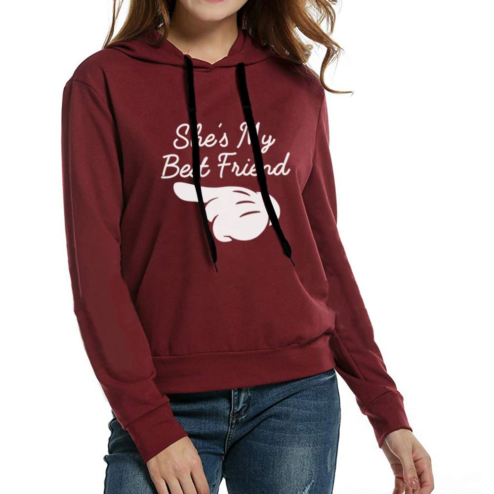 Sister Best Friend Felpa Pullover Manica Lunga Sweatshirt Coppia 2 Ragazze Hoodie con Cappuccio Sweater Autunno per Donna Casual Moda Sportivo