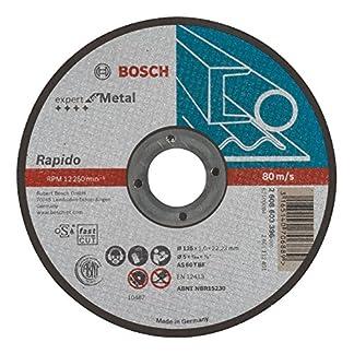 Bosch 2 608 603 396 – Disco de corte recto Expert for Metal – Rapido – AS 60 T BF, 125 mm, 1,0 mm (pack de 1)