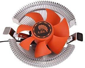 Oraima PC CPU Cooler Cooling Fan Heatsink for Intel LGA775 1155 AMD AM2 AM3 754 (Silver)