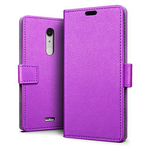 Alcatel A3 XL Hülle, SLEO PU Leder Case Tasche Schutzhülle Flip Case Wallet im Bookstyle für Alcatel A3 XL Cover - Lila