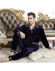 &zhou pijama hombre ocio mantener suelta caliente High-End pijamas gruesos hogar ropa de invierno , male , xxl
