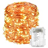 10 Meters 100 Battery Operated Copper String LightMain Features:  Tiny Led Lights : These 100 Led Tiny Led Lights Illuminate Light In 360 Degree Which Makes The Surrounding Atmosphere Peaceful And Gives Feast To Your Eyes. Indoor Starry Lights:&1...