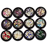 Uñas Ornamentos 3D Nail Art Glitter Lentejuelas Decoración Mix Tamaño Gel UV Consejos Manicura Bricolaje