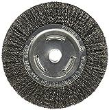 Firepower ondulado tipo carbono cepillo de rueda de alambre de acero con diámetro de 15,24cm y 1cm de ancho, 1423-2122