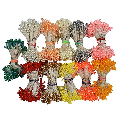 Asian Hobby Crafts Flower Making Pearl Shining Pollens, 500 Pieces (Pack of...