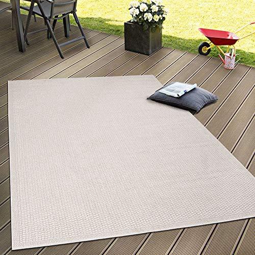 Paco Home In- & Outdoor Flachgewebe Teppich Terrassen Teppiche Natürlicher Look In Beige, Grösse:120x160 cm