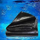 Thick black poncho sunscreen tarpaulin plastic cloth tarpaulin sunshade tarpaulin (Size : 6m*8m)