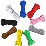 Gekleurde elastische band, 6mm elastisch koord elastisch touw gevlochten stretchband veelkleurig, platte oorlus band elastisc