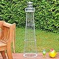 Leuchtturm 1,35m, 135cm Höhe, Gambione, Garten-Dekoration,verzinkt, Vollverzinkt, Kunstwerk! . von Voss Garden bei Du und dein Garten