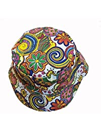 c3fabfa4af914 KGM Accessories Cool colourful psychedelic paisley bucket hat white