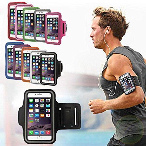 Ouneed® Hülle für iphone 7 4.7 Zoll , Armband Gym Running Sport Arm Band Cover Case für iPhone 7 4.7 Zoll (4.7 Zoll, Blau) Weiß