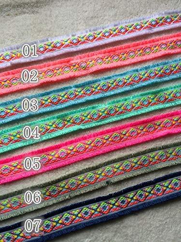 Kostüm Ethnischer Tanz - AiCheaX Spitzen basteln - 10 Yards/Custom DIY Hand Zubehör, Fransen Spitze, Band, ethnische Spitze, Hut, Dekoration 4,5 cm YS0110 - (Farbe: 06 10 Yards)