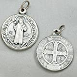 medalla oxidado, colgantes para la cadena de San Benito 1.8 cm