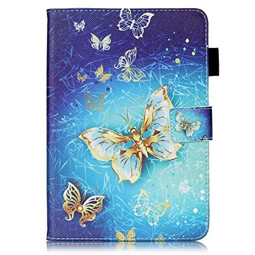 Billionn iPad Mini 1 / iPad Mini 2 / Mini 3 / Mini 4 Case, 3D Glitter PU Leather Slim Stand Protective Cover for Apple iPad Mini 1 / Mini 2 / iPad Mini 3 / iPad Mini 4 (Gold-bildschirm Ipad 3 Mini)