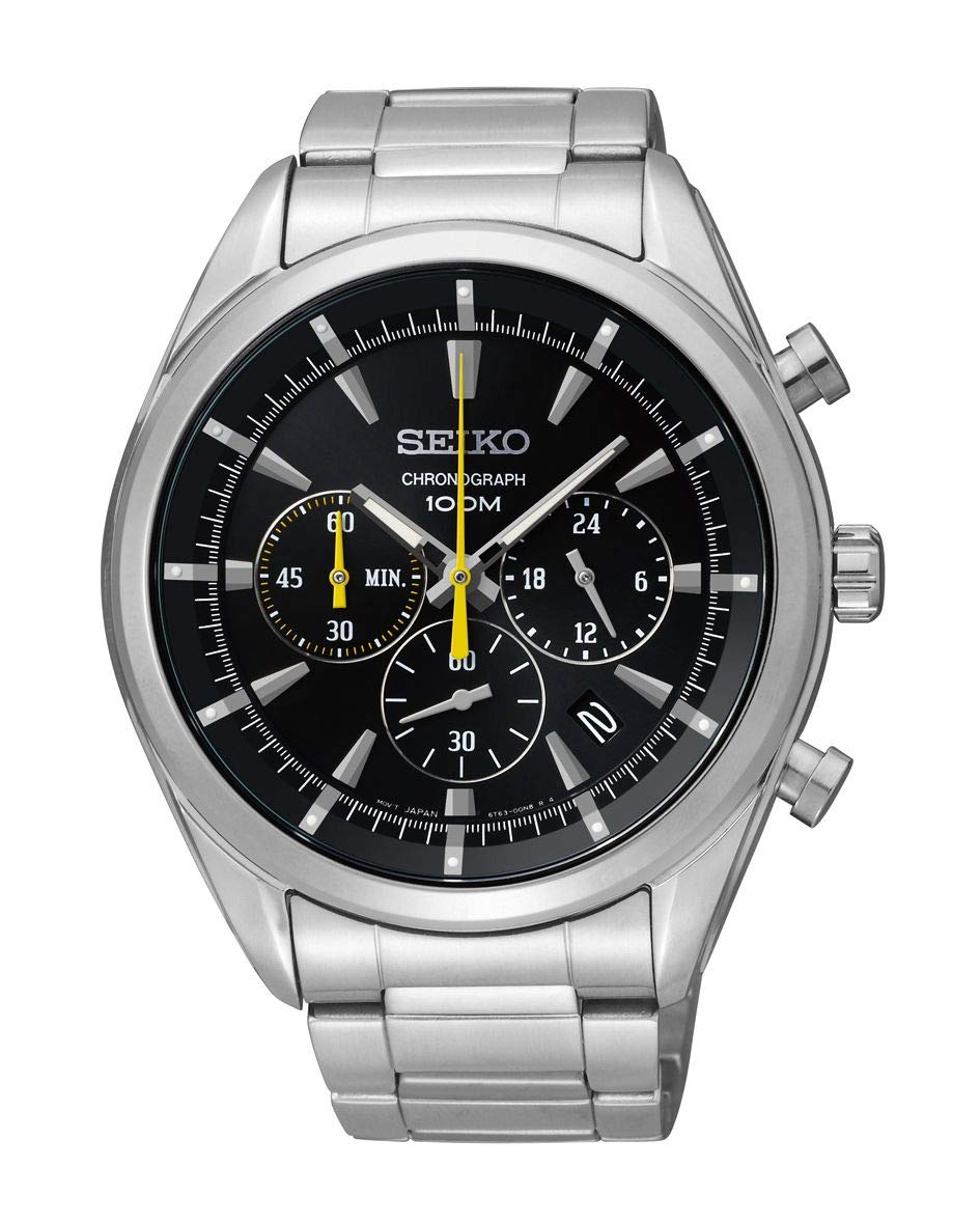 Seiko Men's Chronograph Quartz Watch with Stainless Steel Strap SSB087P1