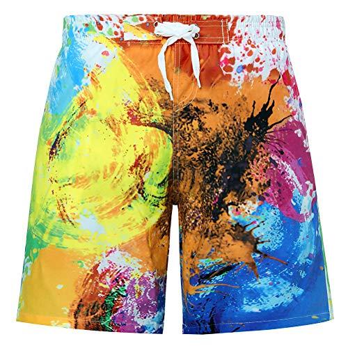 Funnycokid Kinder Badeshorts Sommer Printed Schnelltrocknend Funky Horse Holiday Style Jungen Schwimmen tragen Shorts (Tragen Shorts)