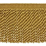 5 Yard Value Pack – 15,2 cm lang gold Edelstahldraht Fransen Trim, Basic Trim Kollektion, Style # bfs6 Farbe: C4 (15 ft/4,5 Meter)