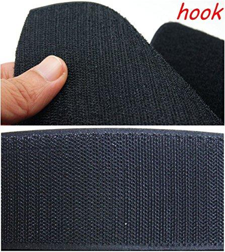 Schwarz Haken- und-Loop Tape Pads ~ 150mm extra breit ~ Sew auf ~ X-Large Squares Blatt, 1 meter Hook Only